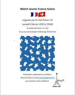 Affiche match france suisse