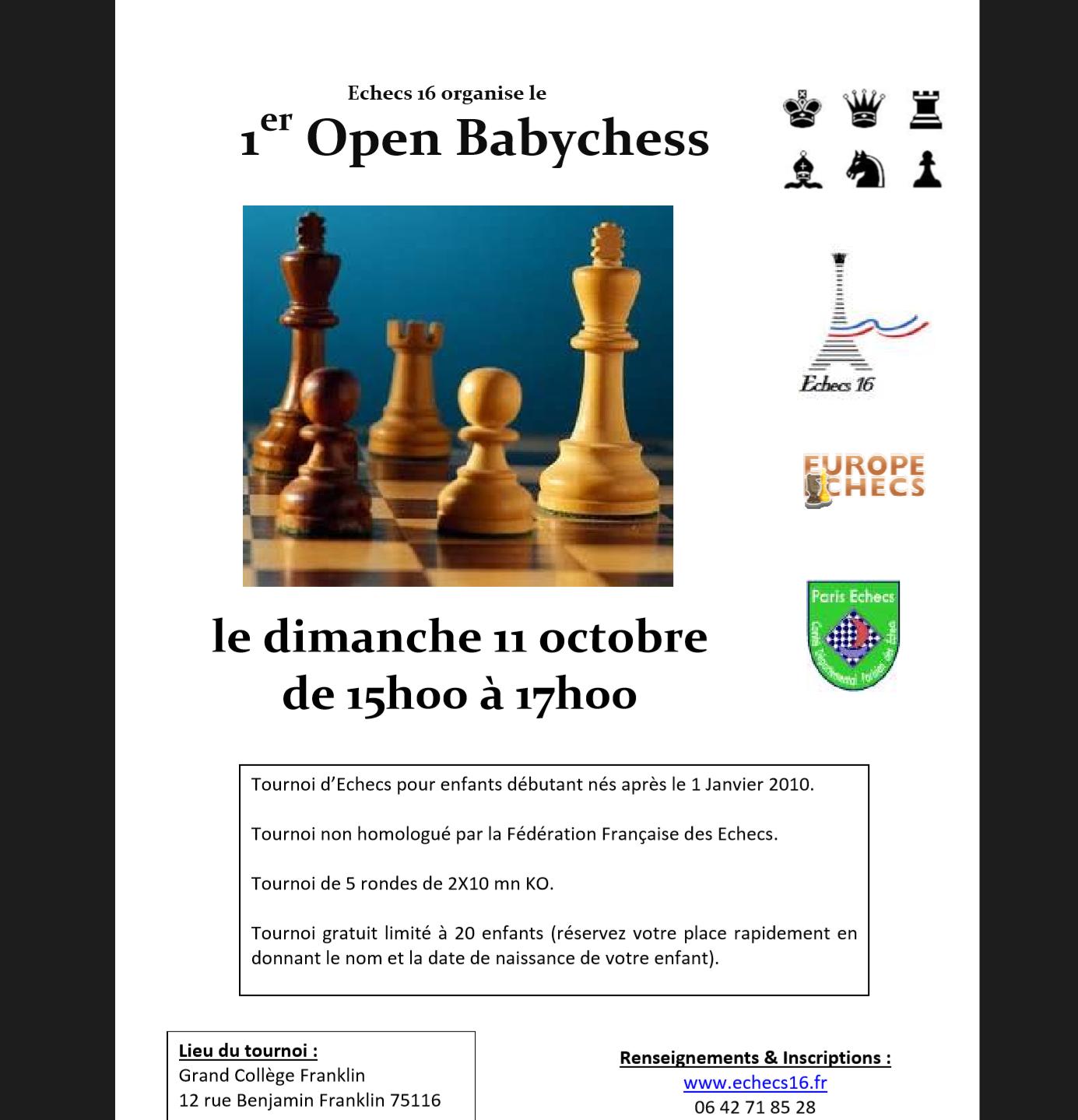 Affiche tournoi babychess