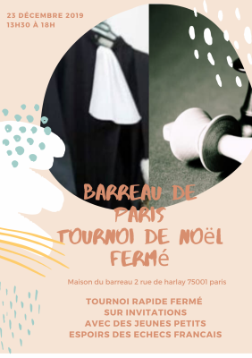 Affiche tournoi noel barreau