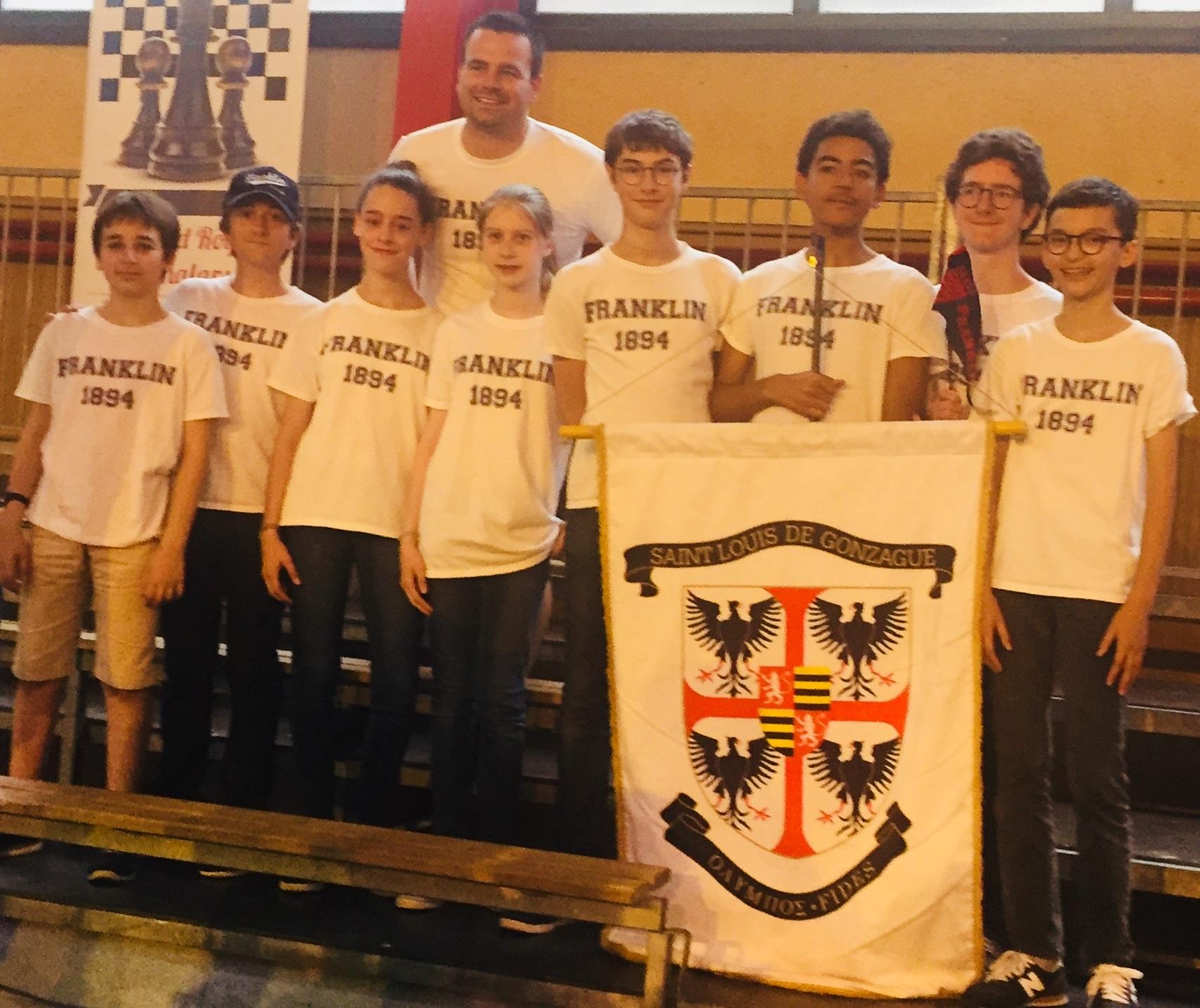 Championnat de France des collèges, Franklin sur le podium !