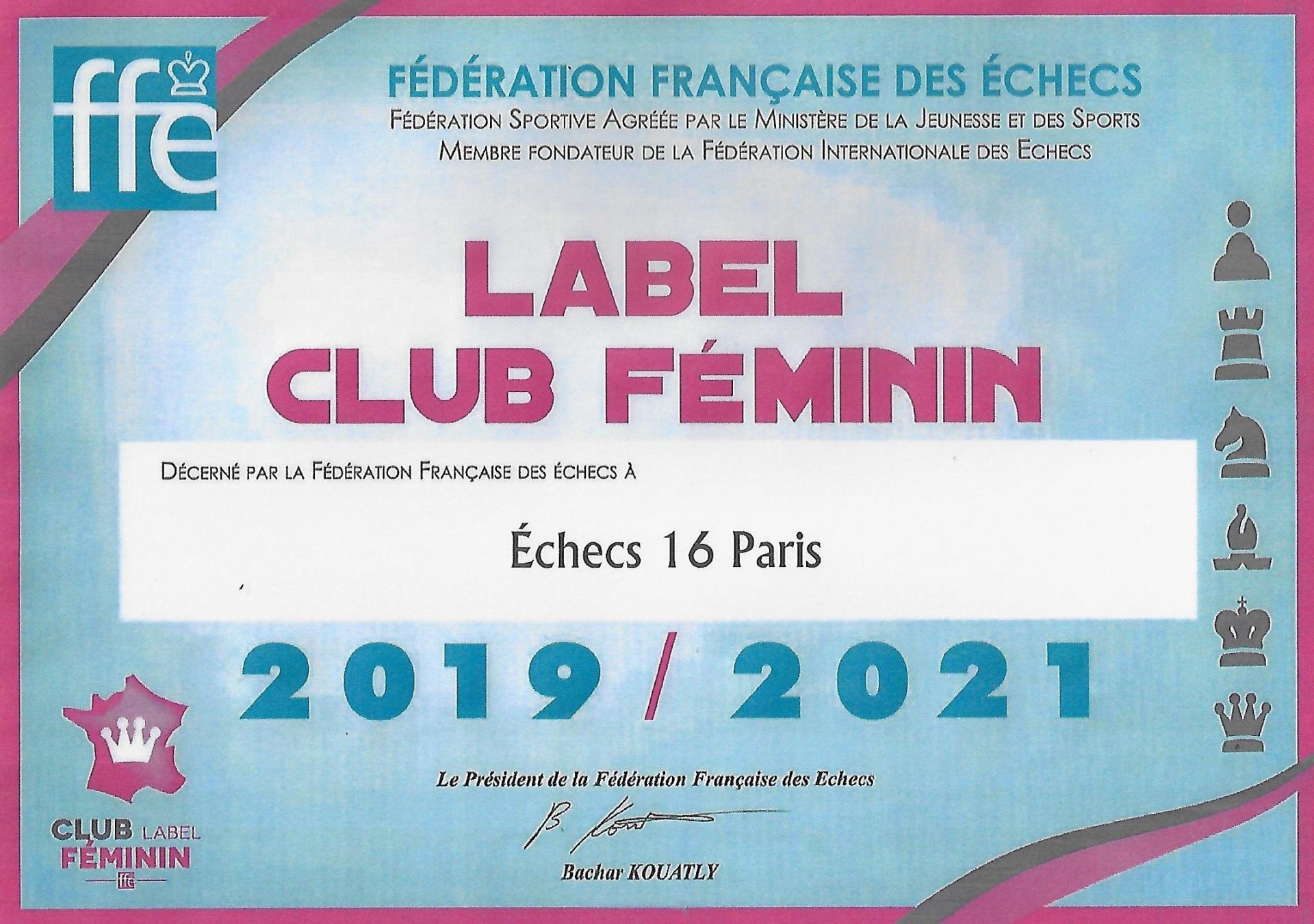 Label feminin fpg